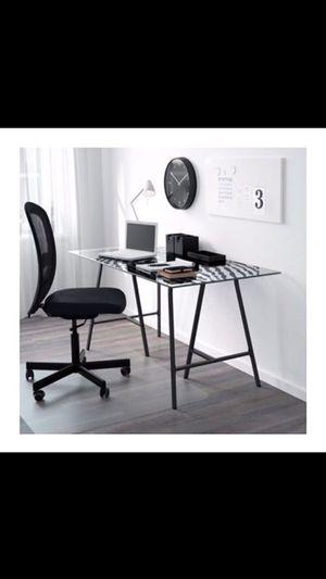 IKEA glass desk for Sale in Manassas, VA