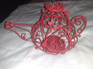 Red teapot tealight holder for Sale in St. Louis, MO