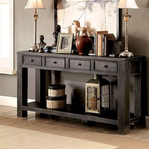 Rustic black console table for Sale in Las Vegas, NV