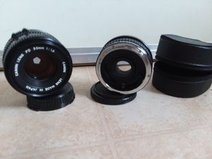 Canon Lens FD 50mm 1:1.8 and Quantaray 7Element Auto Tele Converter 2X for Canon. for Sale in Hyattsville, MD