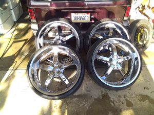 "24"" Chrome Rims and Perrelli Tires for Sale in National City, CA"