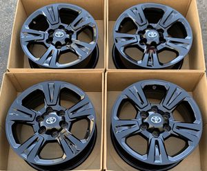 """17"""" Toyota Tacoma TRD factory wheels rims gloss black new for Sale in Costa Mesa, CA"""