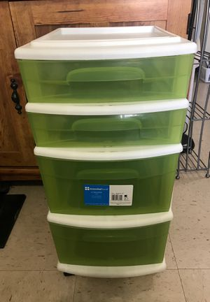 Green plastic drawers for Sale in Miami, FL