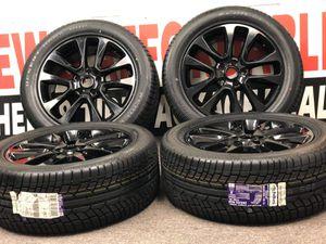 """20"""" Jeep Grand Cherokee 2019 OEM black wheels rims tires OE 9168 2017 203 2020 Package deal 1799.00 new BestTires 📍33733 Groesbeck Hwy Fraser, MI for Sale in Sterling Heights, MI"""