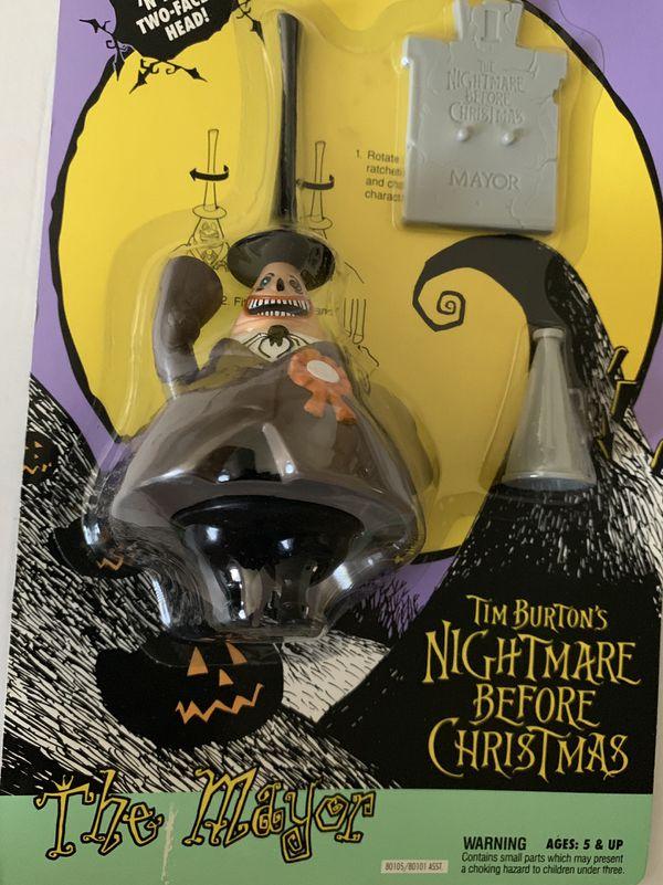 Nightmare before Christmas 5 action figures original 1993 New! Unopened! Jack Skellington Werewolf Mayor etc.