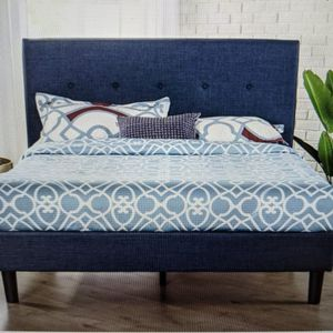 Brand New (In The Box) Zinus Omkaram King Upholstered Platform Bed With Headboard for Sale in Batavia, OH