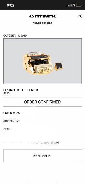 Ben baller gold money counter for Sale in El Cajon, CA
