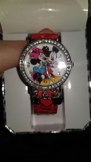 Disney Mickey and Minnie mouse I love you watch for Sale in Ludowici, GA