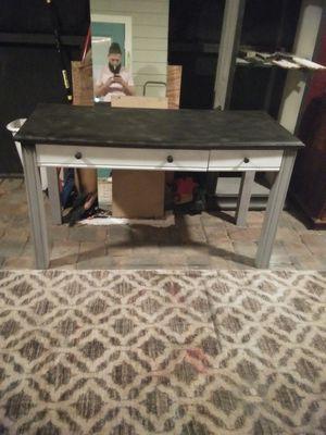 Black gray white desk for Sale in Bartow, FL