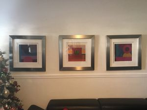 3 Contemporary abstract Art pieces for Sale in Miami, FL