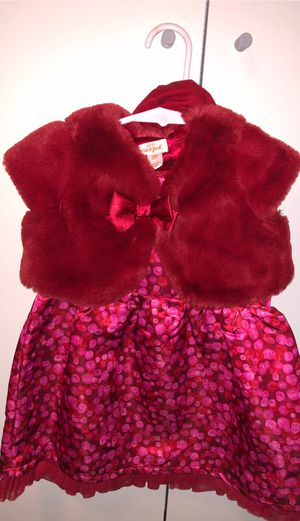 Cat & Jack fur vest dress set for Sale in Whittier, CA