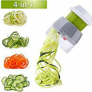 Handheld Spiralizer Vegetable Slicer Nurch 4 in 1 Veggie Spiral Cutter Zucchini Noodle Maker Spaghetti Maker Spiral Slicer Great for Salad for Sale in Grand Prairie, TX