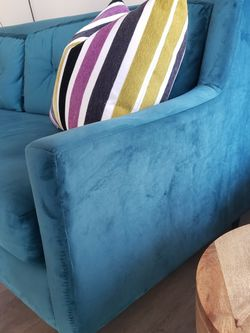Plush Teal Sofa! for Sale in Austin,  TX
