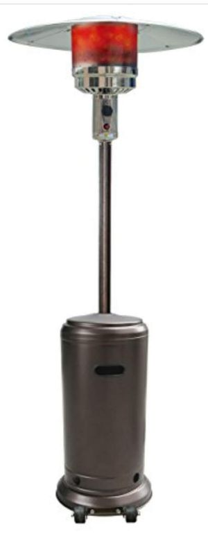 Portable Outdoor Patio Heater Havana Bronze with cover and empty propane tank for Sale in New Windsor, MD