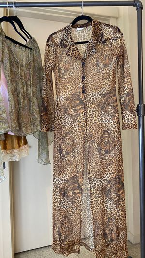 Vintage Breakin' Loose Sheer Mesh Leopard Print Duster Jacket for Sale in Tacoma, WA