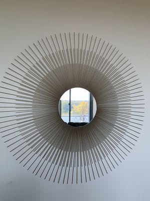 Antiqued Sunburst Mirror for Sale in City of Orange, NJ