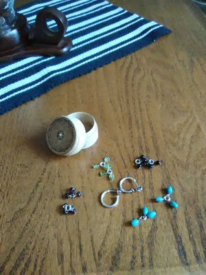 STERLING SILVER HOOP EARRING SET WITH STORAGE BOX for Sale in Lakewood, CO