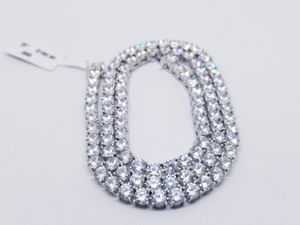5MM TENNIS CHAIN 14KT WHITE GOLD PLATED OVER BRASS BLING BLING EXCELLENT QUALITY for Sale in CRYSTAL CITY, CA