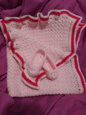 Handmade baby blanket and slippers for Sale in Nashville, TN
