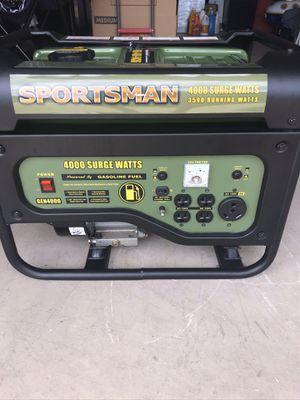 4000 WATT PORTABLE GENERATOR BY SPORTSMAN. NEW for Sale in Enterprise, FL