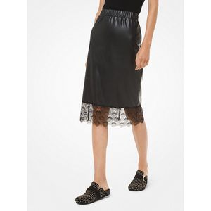 NEW MICHAEL KORS FAUX LEATHER MIDI SKIRT Size XXS for Sale in Bartlett, IL