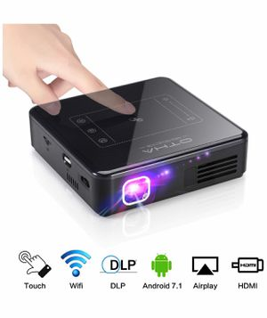 Portable Projector for Home Theater - Mini Android Projector with 2GB RAM, 200 ANSI Lumen,Built in Battery, Support 1080P and 4K Video for Sale in Huntington Beach, CA