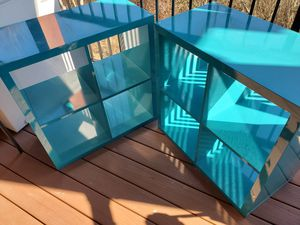 2 teal turquoise book case shelf for Sale in Bellingham, WA