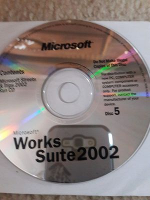 Microsoft works suite 2002 Disc 5 for Sale in Fountain, CO