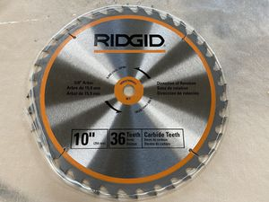 "Ridgid 10"" Carbide 36 Teeth Saw Blade 5/8"" Arbor for Sale in West Chicago, IL"
