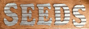 "Galvanized metal ""SEEDS"" letters sign wall display decor garden potting shed for Sale in Everett, WA"
