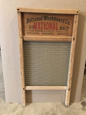 Washboard with glass for Sale in Lancaster, OH