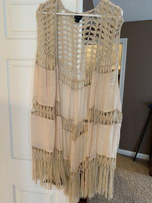 Rue 21- Crochet fringe long vest -plus size for Sale in Avon, IN