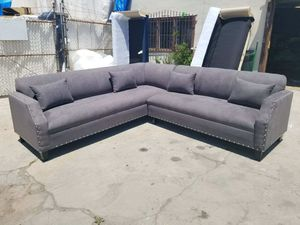 NEW 9X9FT CHARCOAL MICROFIBER SECTIONAL COUCHES for Sale in Chula Vista, CA