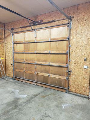 Wood 12x10 garage door for Sale in Buckley, WA