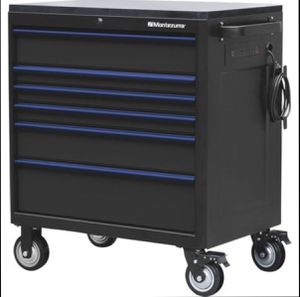 """Montezuma 36"""" x 24"""" 6-Drawer Tool Cabinet w/ Power/USB Outlets (Brand New in Sealed Box) for Sale in Elk Grove, CA"""