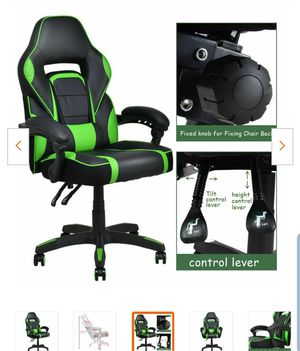 Executive Green Racing Style PU Leather Gaming Chair High Back Recliner Office for Sale in South El Monte, CA