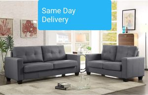 Etna Gray Contemporary Sofa & Loveseat | U6550 for Sale in Jessup, MD