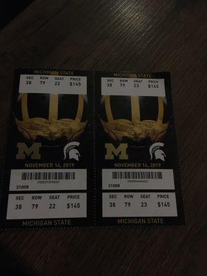 Michigan Michigan State game for Sale in Taylor, MI