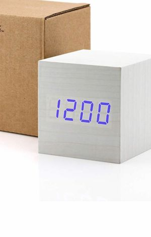 Nw white wood cube digital alarm clock for Sale in Westminster, CA