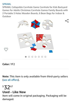 SPRAWL Collapsible Cornhole Game for Sale in Pomona, CA