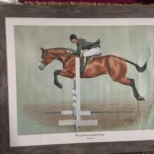 1970 Framed Equestrian Poster for Sale in Long Beach, CA