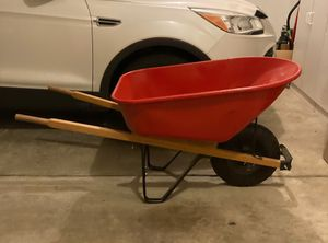Wheelbarrow, full size, steel with wood handles for Sale in Lewis Center, OH