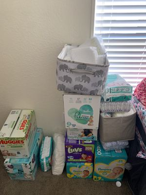 Baby diapers , wipes & baby soap also detergent for Sale in La Porte, TX