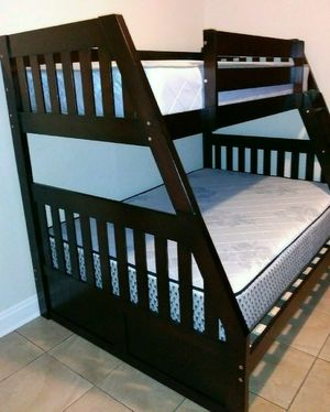 GREAT SALE NEW BEAUTIFUL BUNK BED WITH MATTRESSES for Sale in Biscayne Park, FL