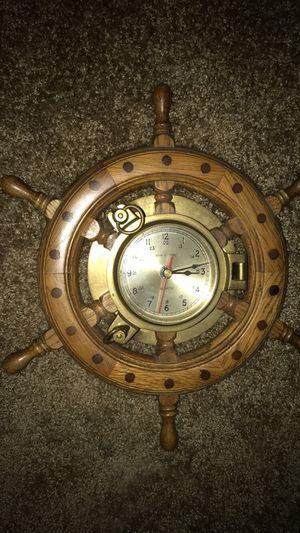 Antique Ship Wheel Clock (hidden safe) for Sale in Tigard, OR
