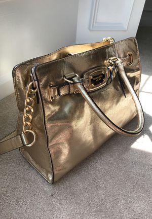 Michael Kors Hamilton Bag, Gold for Sale in Chantilly, VA