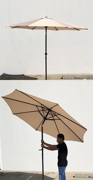 New $35 each Outdoor 9ft Patio Umbrella Aluminum Sun Shade w/ Tilt Crank (Tan, Green or Red) for Sale in Pico Rivera, CA