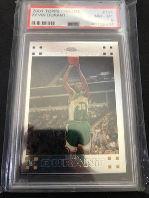 Kevin durant 2007 topps chrome graded 8 for Sale in Lakewood, CA