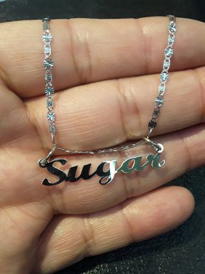 Any name with chain 14k white gold for Sale in Pomona, CA