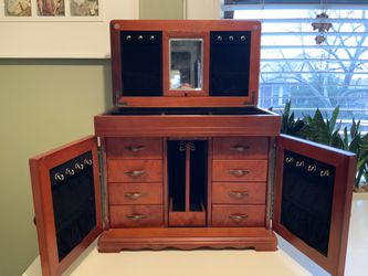 Jewelry Armoire with Mirror Antiques/Vintage for Sale in Brooklyn,  NY
